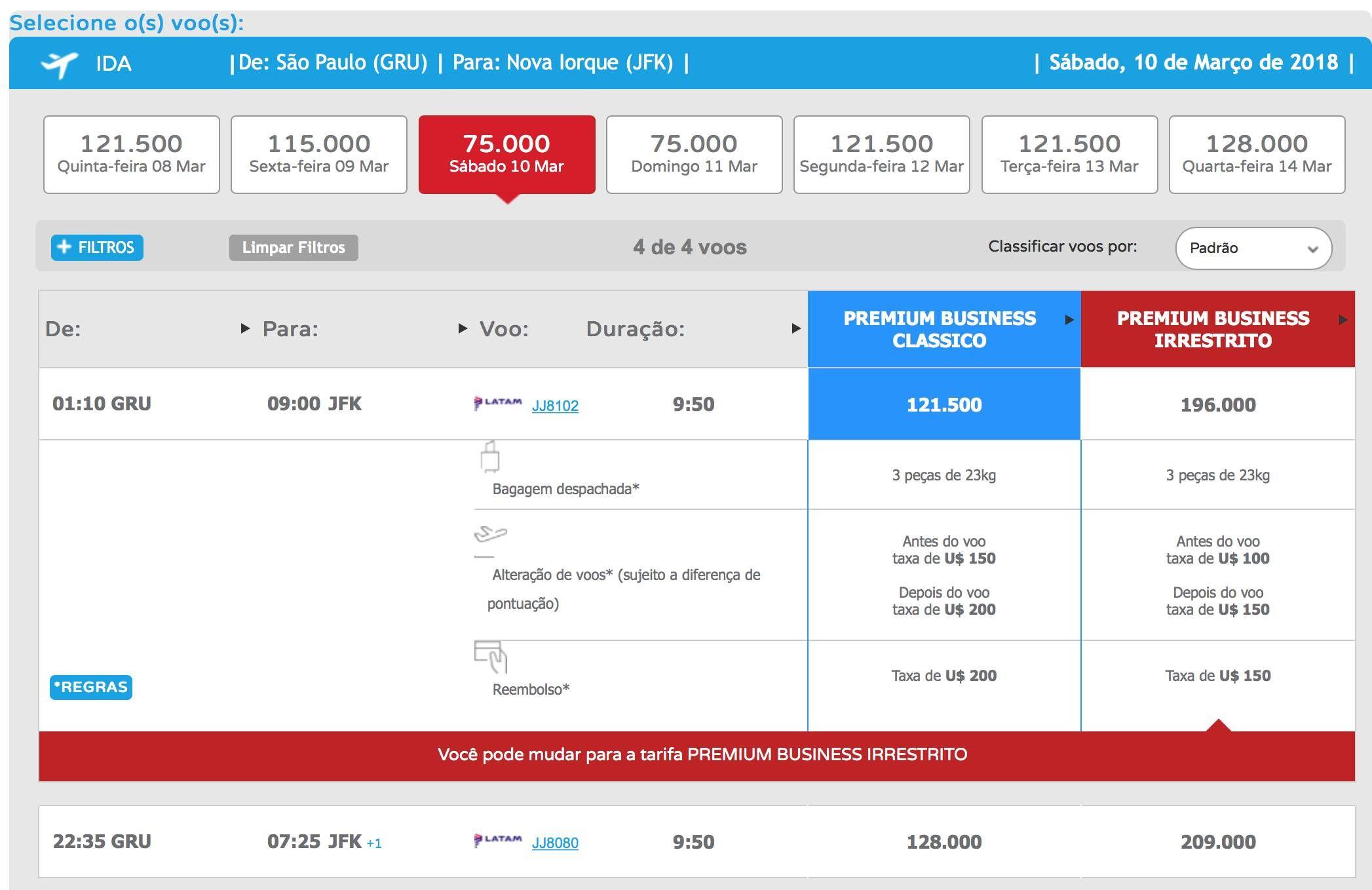 Disponibilidade de resgate de passagens pelo LATAM Fidelidade é diferente entre o site e o aplicativo