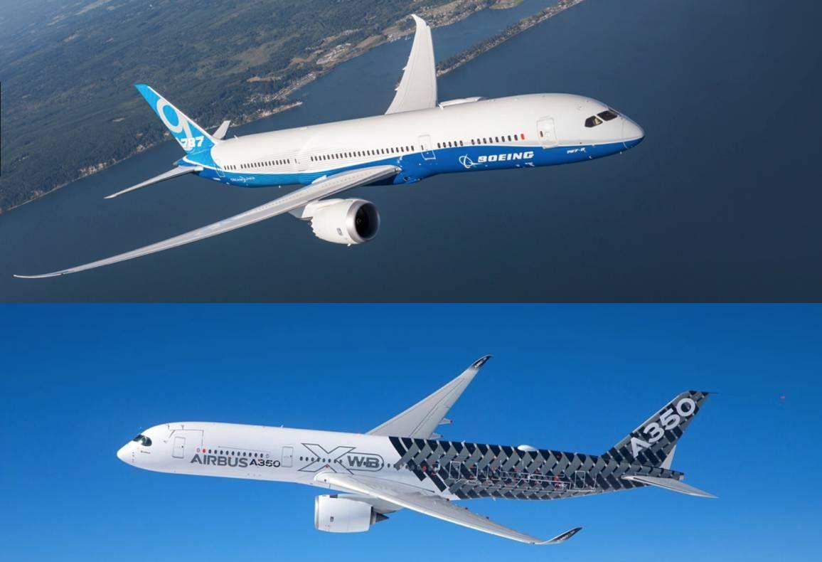 Boeing 787 ou Airbus A350?