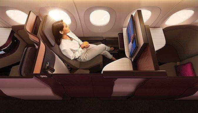 Viaje na Qsuite da Qatar por 22.000 milhas + R$600,00