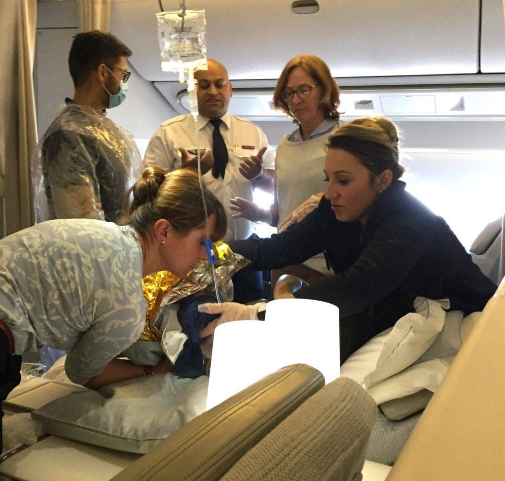 Bebê nasce na primeira classe da Air France em pleno voo