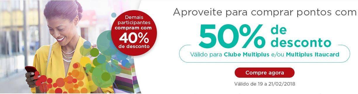 Ganhe até 50% de desconto na compra de pontos na Multiplus!