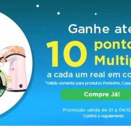 Ganhe até 13 pontos Multiplus por real gasto no site Comprei Pontuei
