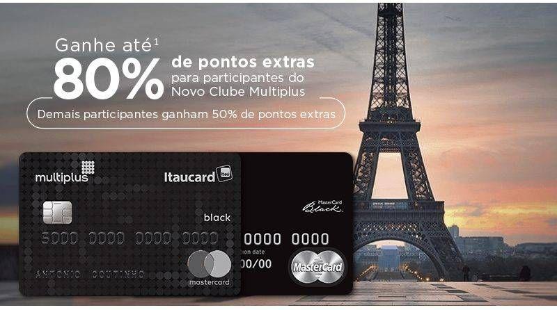 Ganhe até 80% de Pontos Extras com seu Multiplus Itaucard Black!