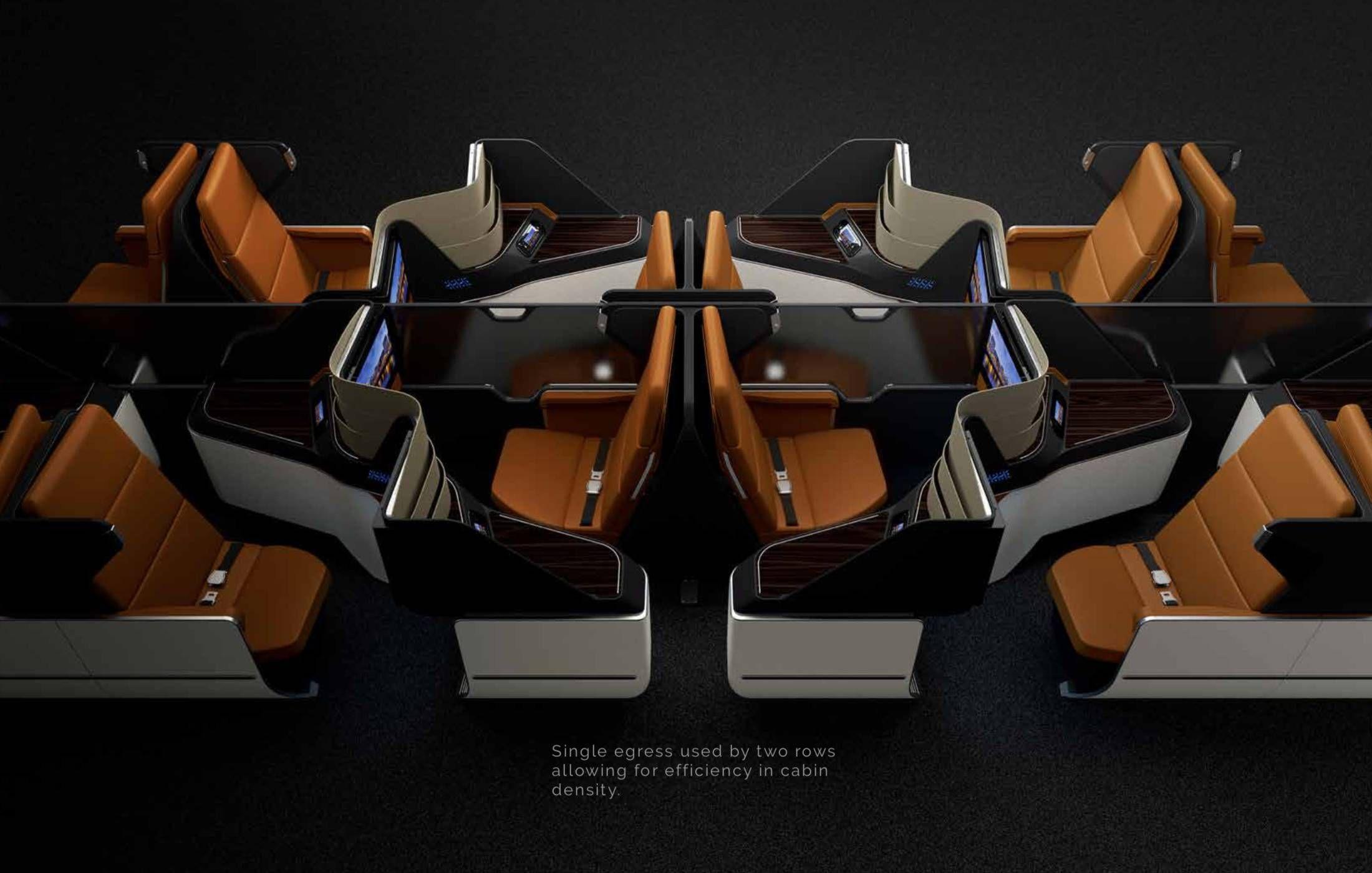 Conheça o ARIA – um novo conceito de assento para classe executiva