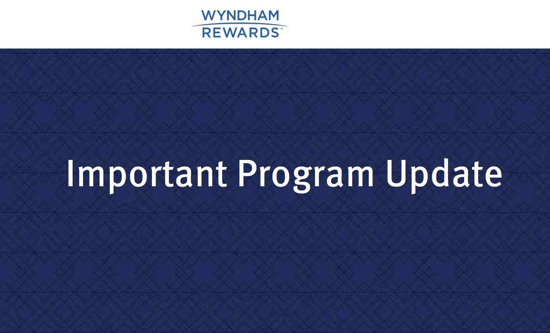 Programa Wyndham Rewards anuncia mudanças
