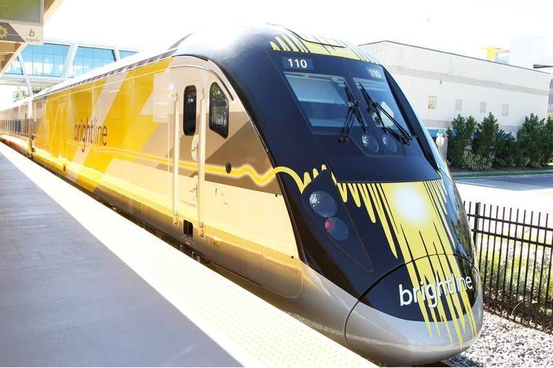 Trem de alta velocidade que no futuro vai ligar Miami a Orlando começa a funcionar neste sábado