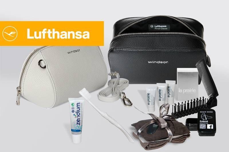 Lufthansa lança novos amenity kits para suas classes premium