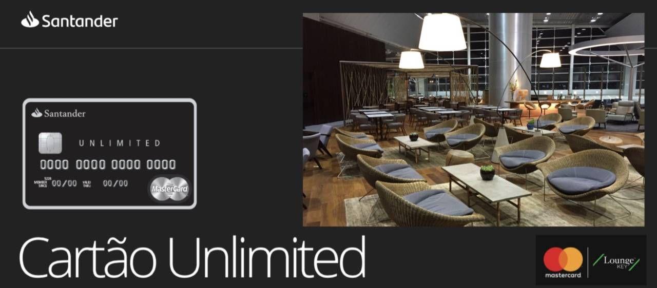 Cartão de crédito Mastercard Black Unlimited do Santander vai deixar de oferecer acesso ilimitado para convidados através do Lounge Key