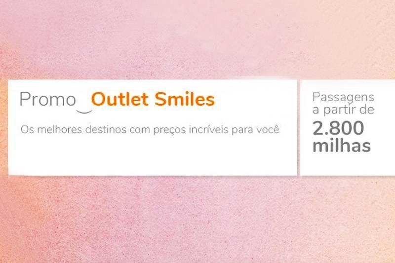 Promoção Outlet Smiles tem resgates de passagens com milhas reduzidas!