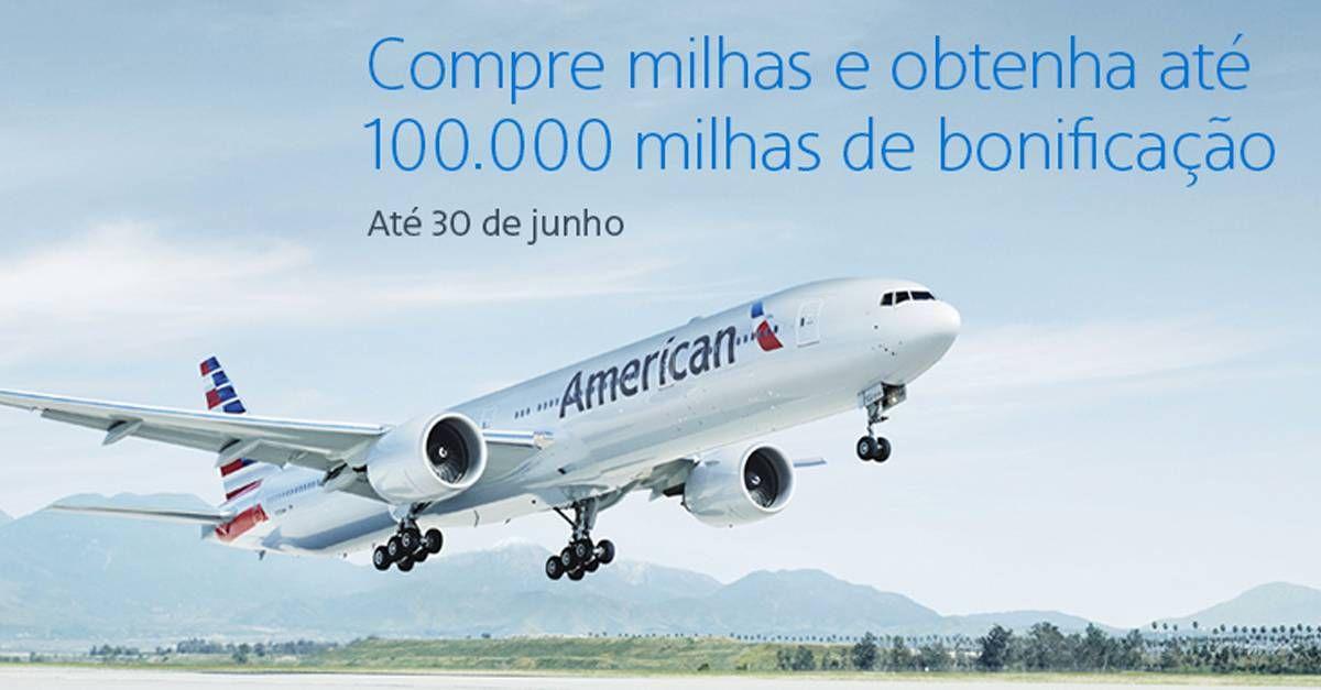 American Airlines lança promoção de compra de milhas bonificada e com desconto