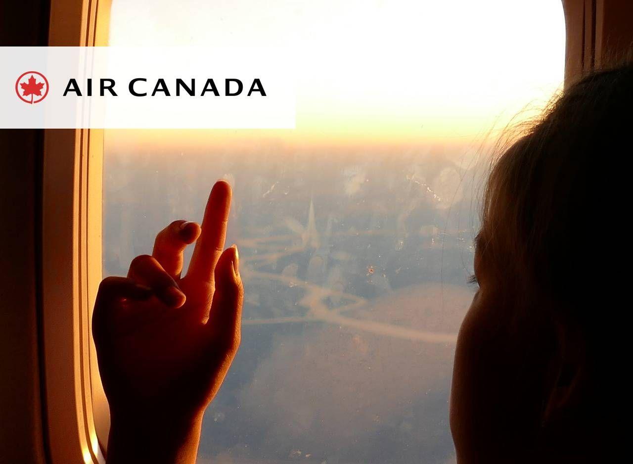 Air Canada oferece serviços exclusivos para passageiros viajando com crianças