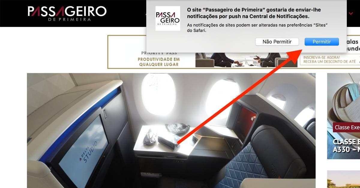 Nova Funcionalidade: Notificações do Passageiro de Primeira!