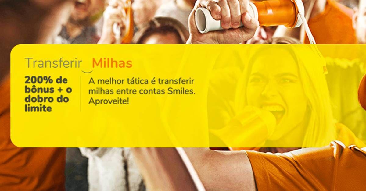 Smiles oferece 200% de bônus na transferência entre contas, mas aumenta o custo!