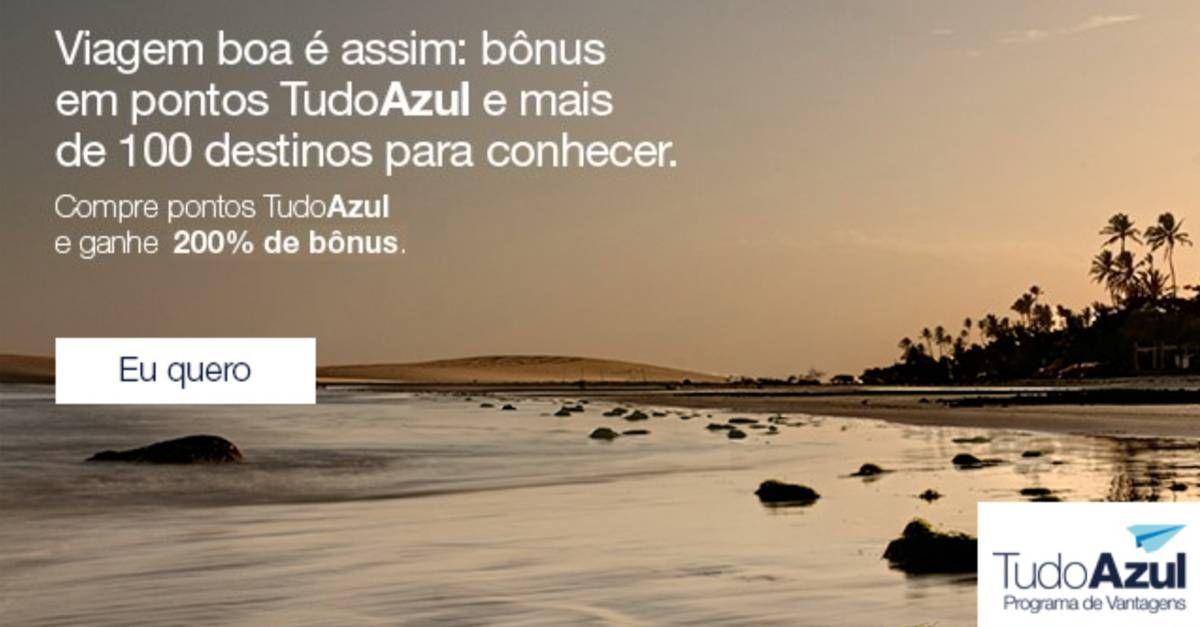 TudoAzul oferece 200% de bônus na compra de pontos de programa