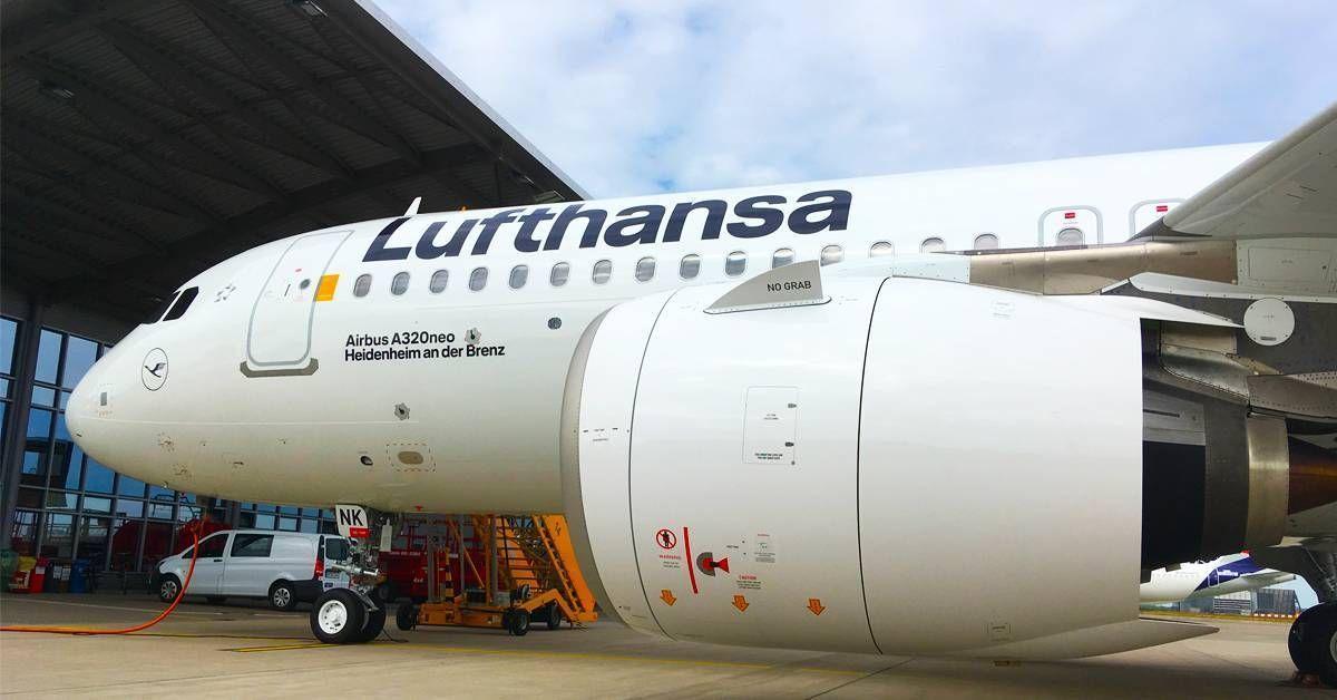 Lufthansa recebe o A320neo com o novo design da companhia