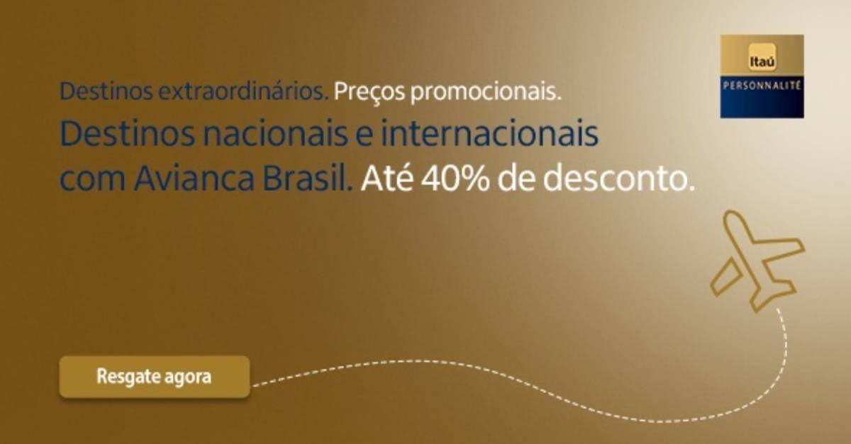 Itaú Sempre Presente oferece desconto na emissão de passagens – INCLUSIVE EXECUTIVA!