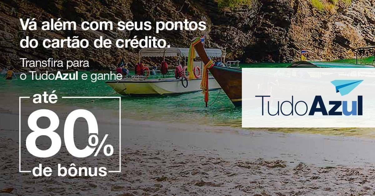 TudoAzul oferece até 80% de bônus em transferências do cartão (bancos selecionados)