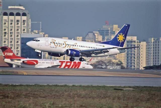 TBT - Boeing 737-400 e 737-500 no Brasil - Passageiro de