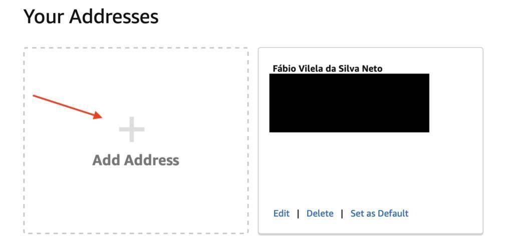 Como adicionar um endereço no Amazon Locker