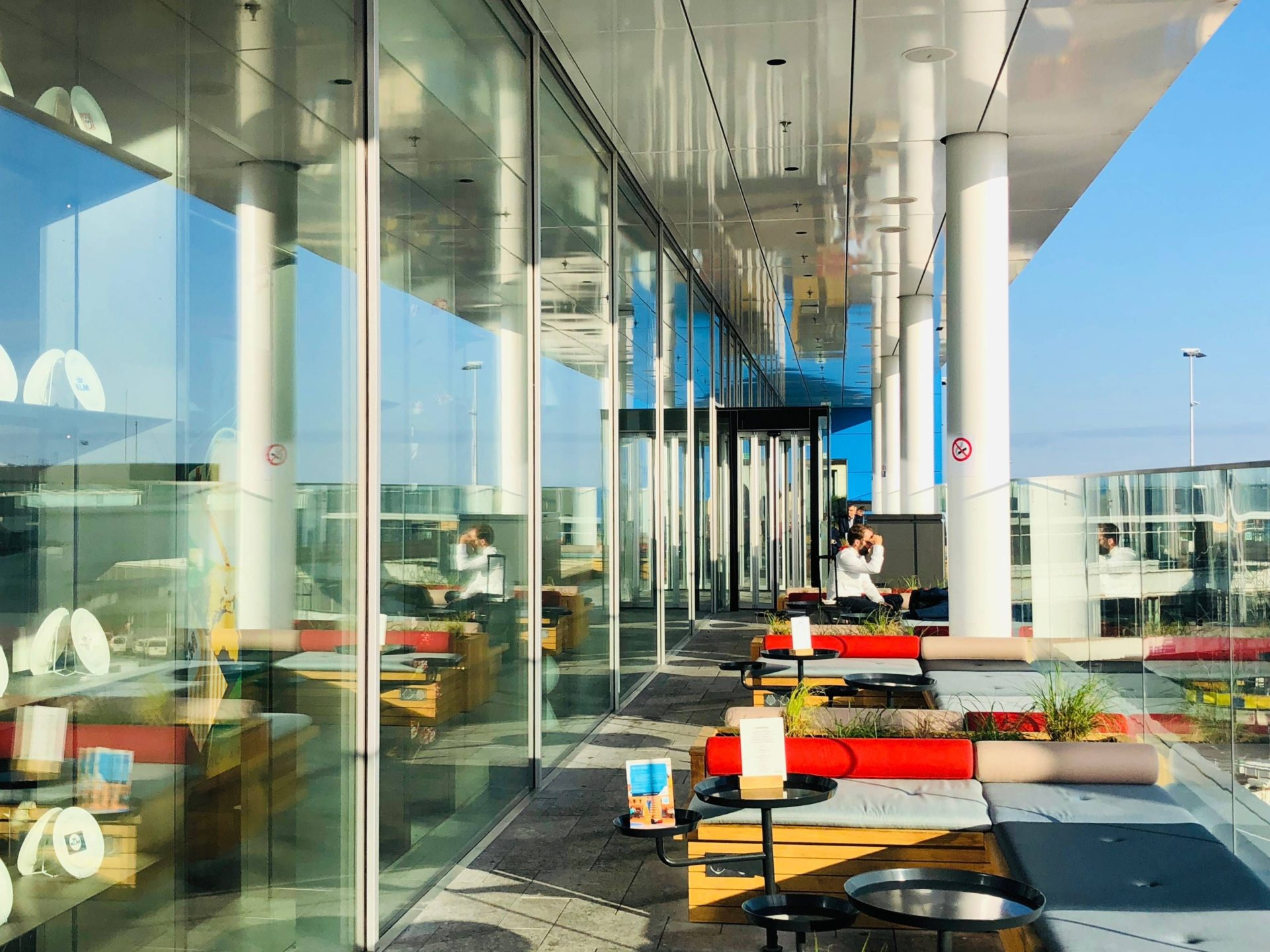 Sala VIP KLM terraço