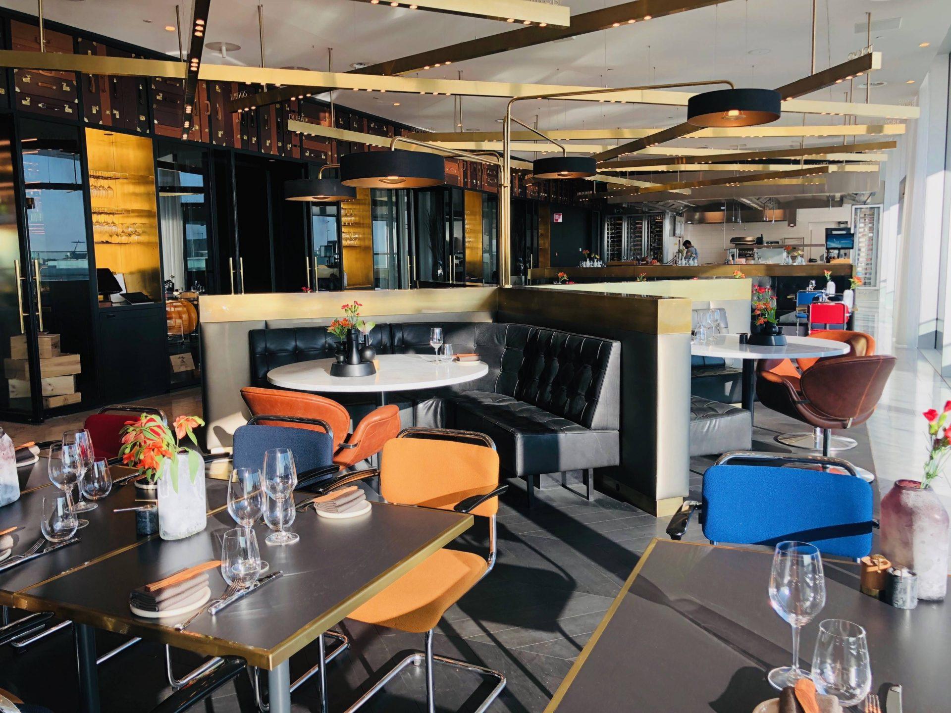 Lounge da KLM em Amsterdã Blue Restaurant