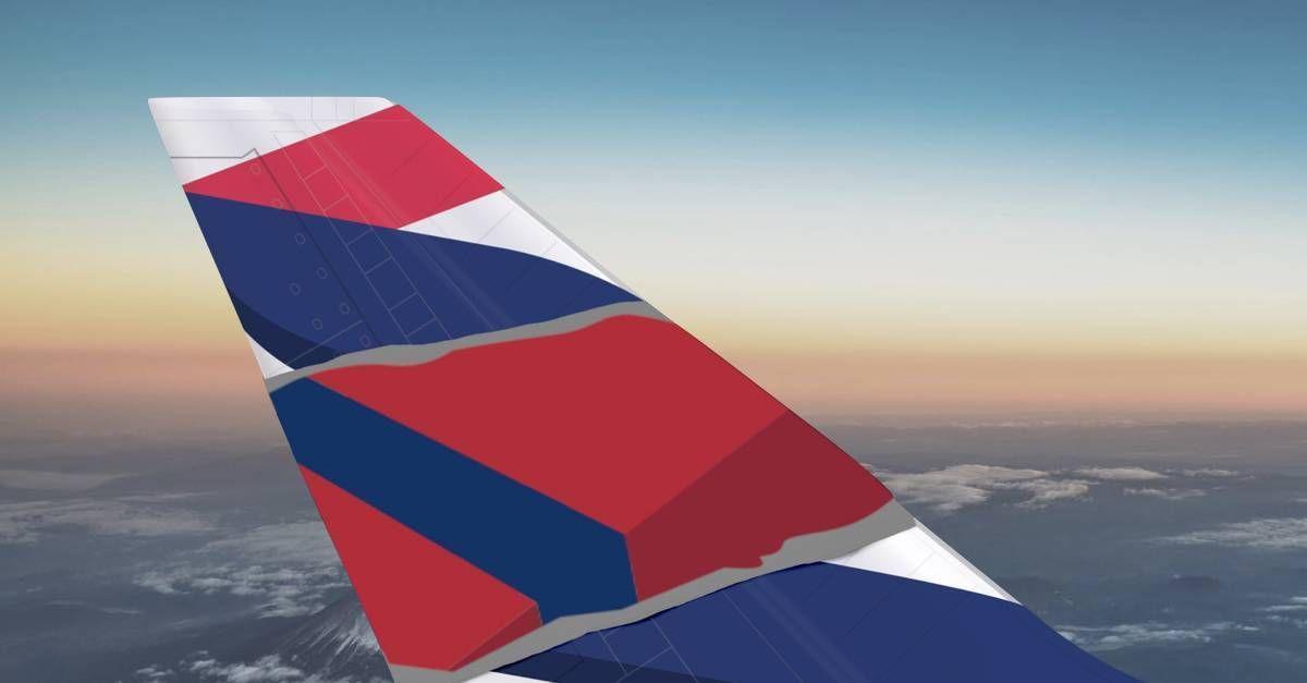 avião Delta e LATAM