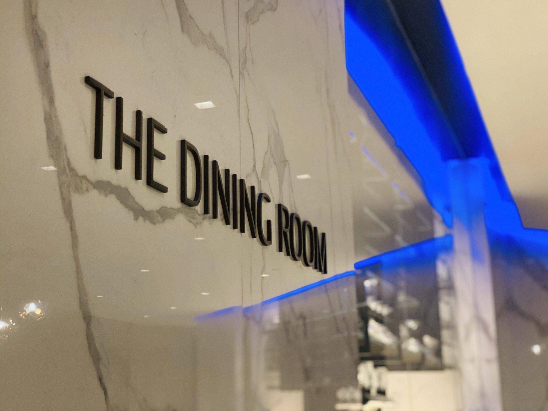 United Polaris Lounge Newark the dining room