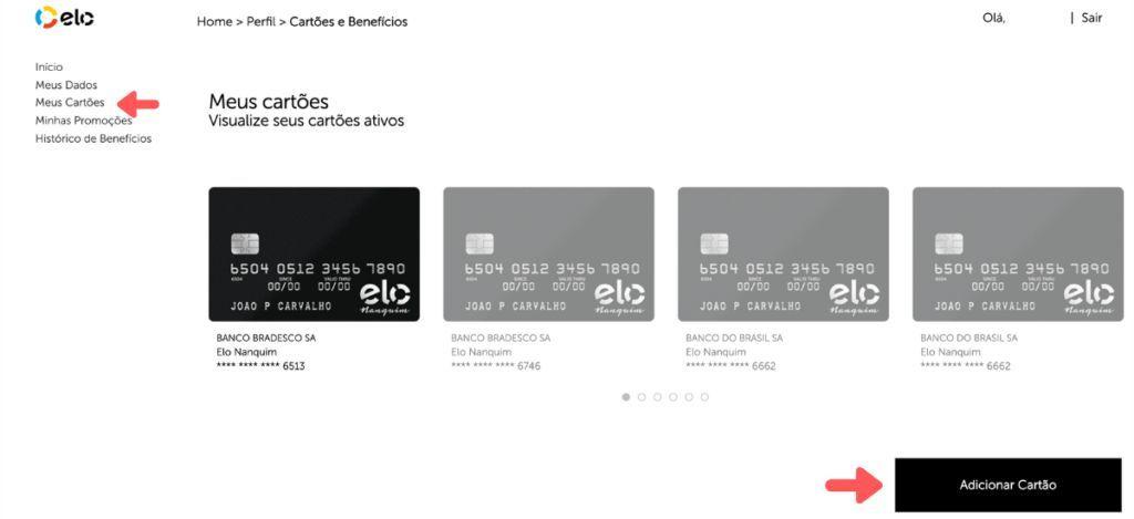 Como cadastrar cartão de crédito no Elo Flex