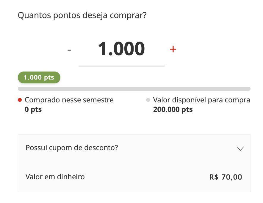 comprar pontos no Santander Esfera