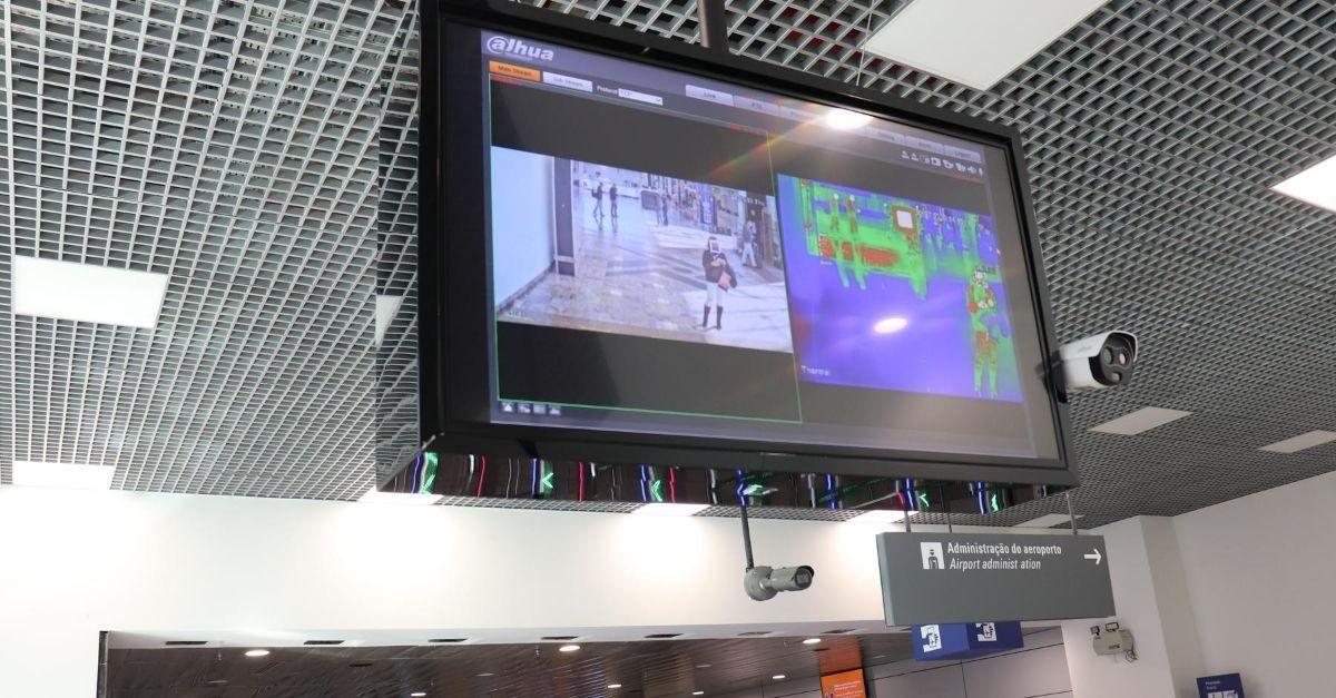 câmera térmica no aeroporto de Porto Alegre