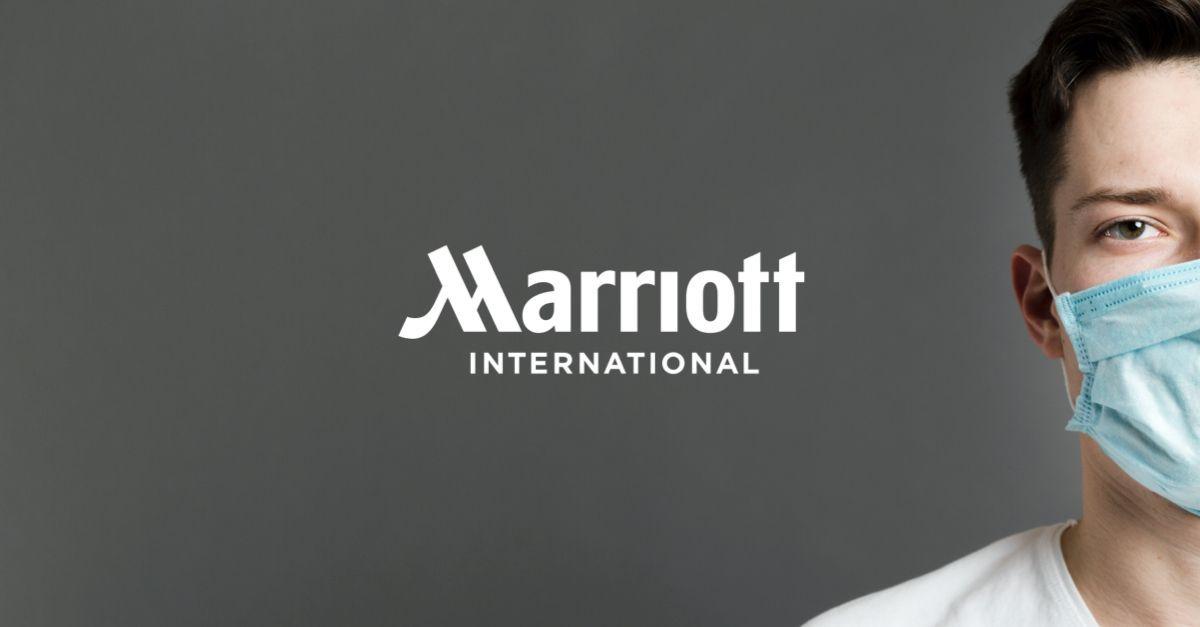 Campanha de uso de máscaras da rede hoteleira Marriott