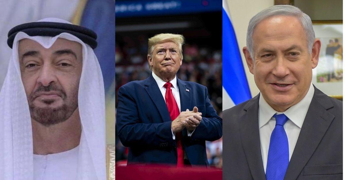 Acordo Israel, Emirados Árabes e Trump