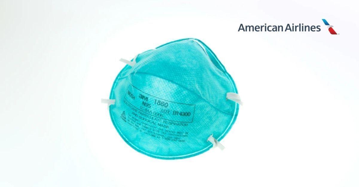 Máscara facial American Airlines