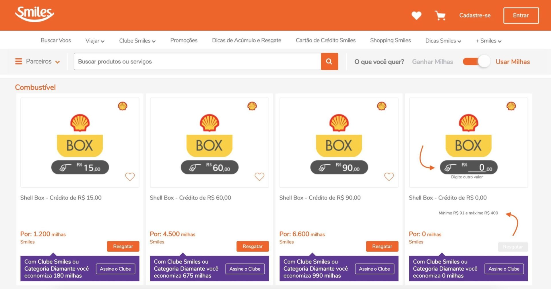 Smiles personalize o valor Shell Box
