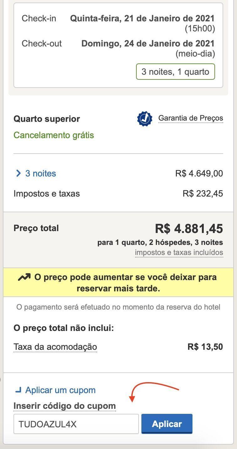 TudoAzul 4 pontos Hoteis.com
