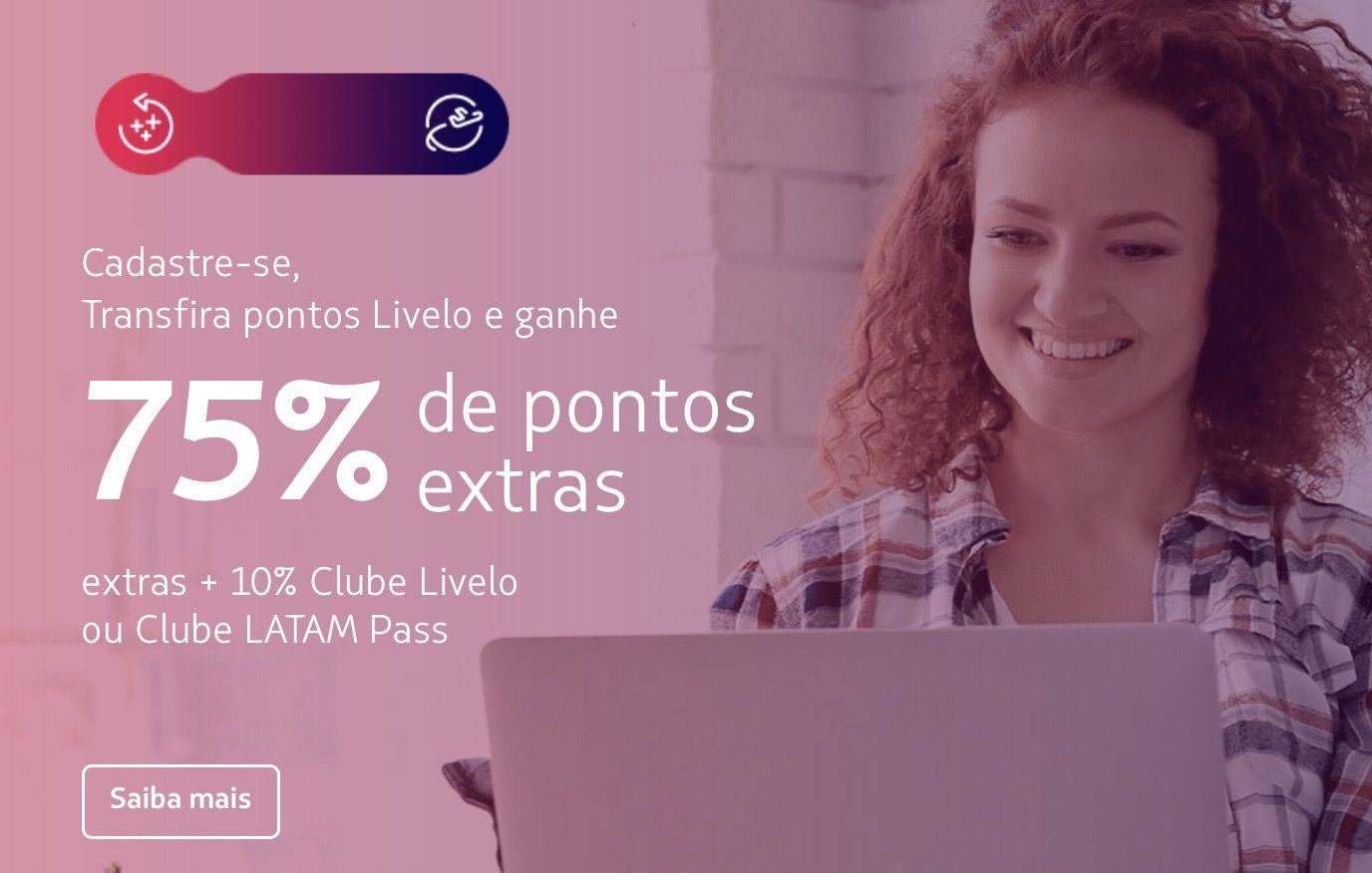 Livelo LATAM 85% bônus