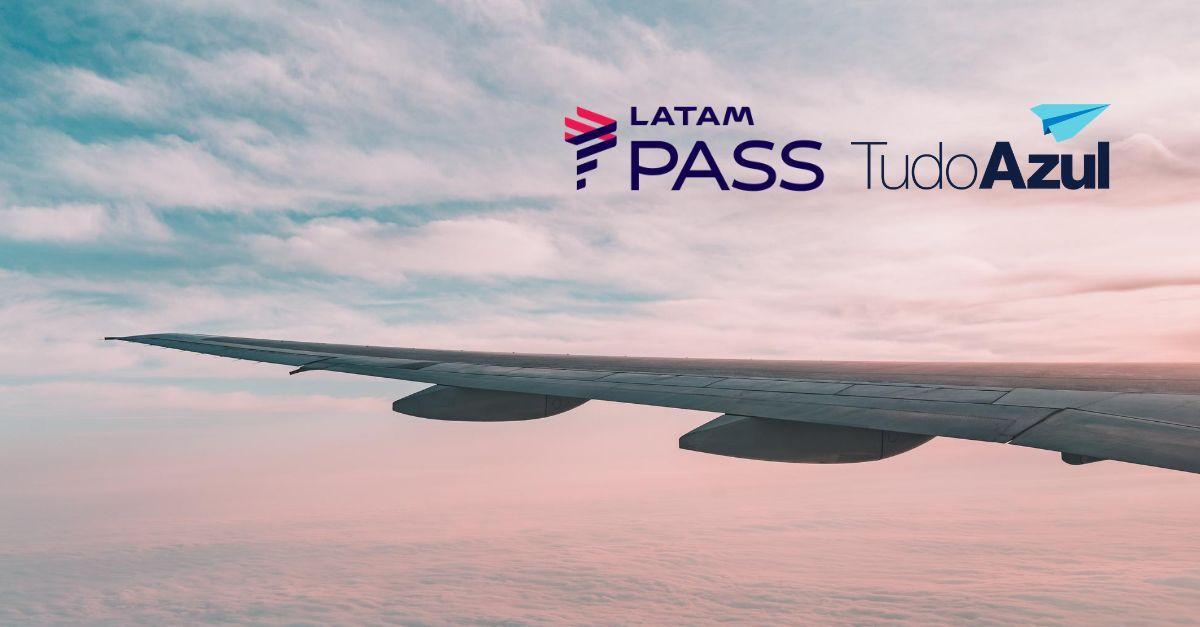 acúmulo de pontos no LATAM Pass e TudoAzul