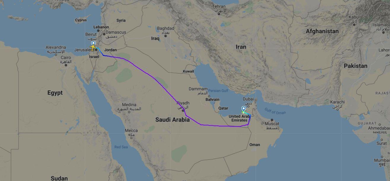 Israel voo Emirados Árabes