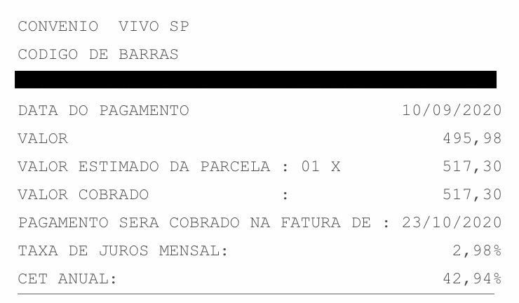 Banco do Brasil contas cartão