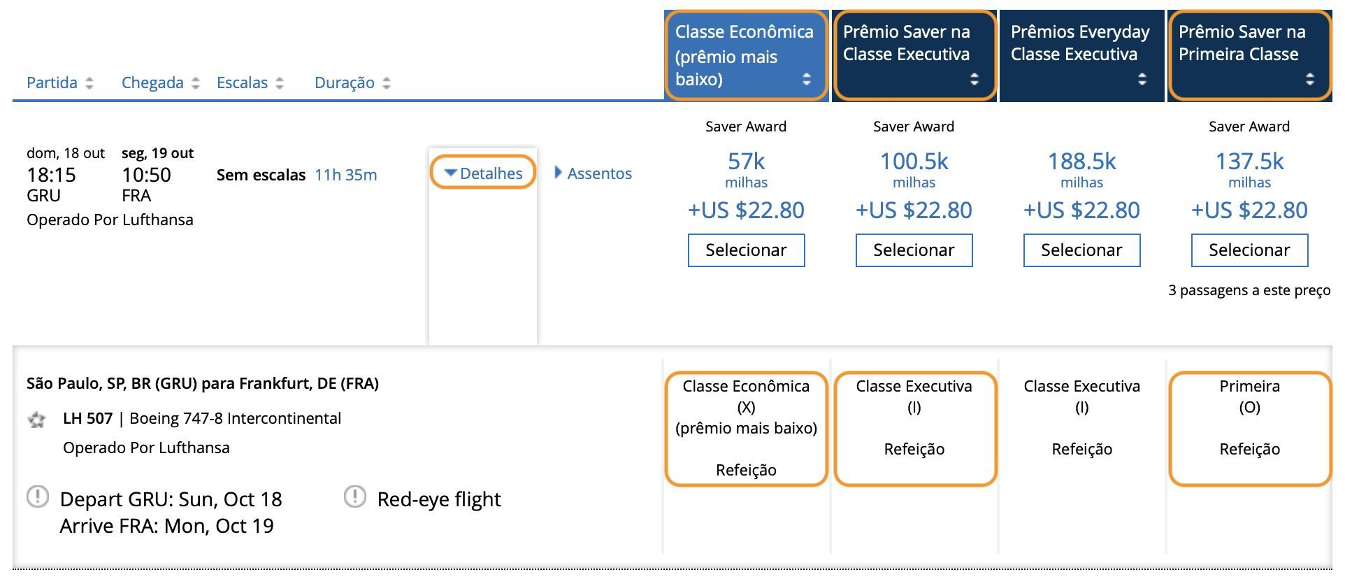 site da united para encontrar passagens da Lufthansa