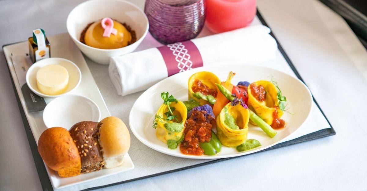 Qatar Airways vegano
