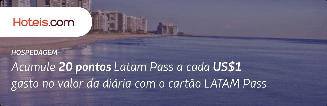 Latam Pass Hoteis.com pontos