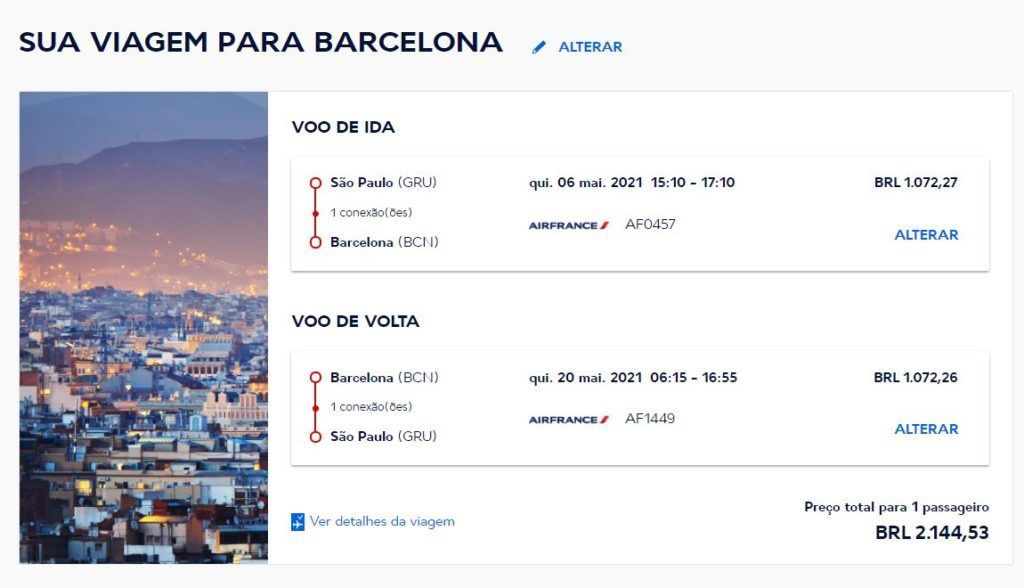 Exemplo de tarifa barcelona