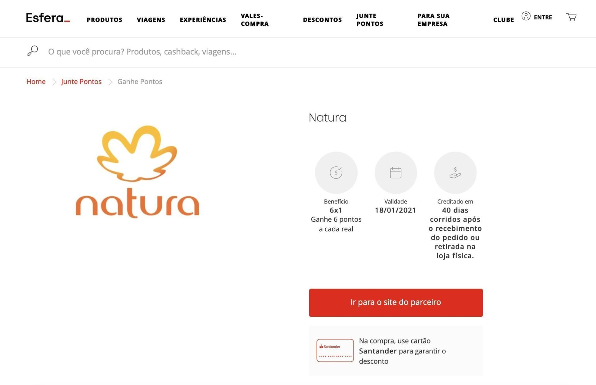 Esfera Natura 6 pontos