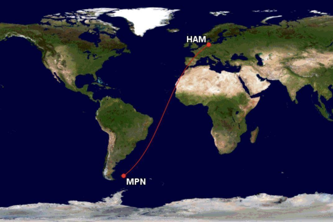 Lufthansa voo mais longo