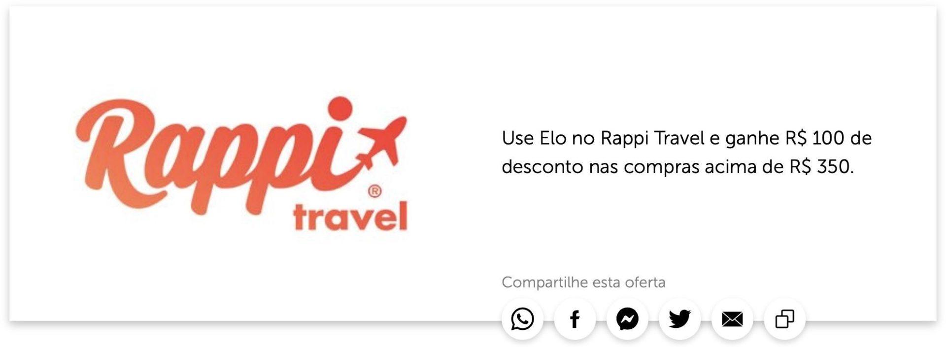 Elo Rappi Travel R$100