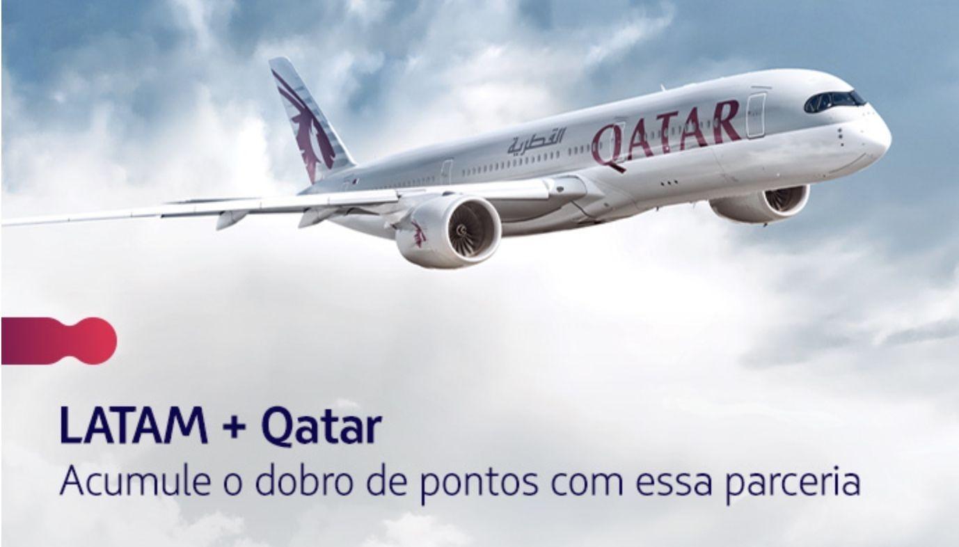 LATAM Qatar pontos dobro