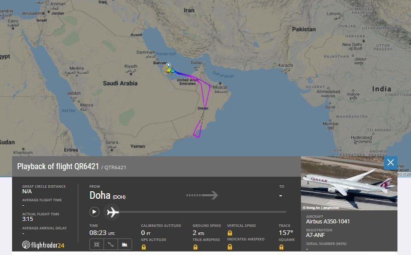 Qatar voo vacinados A350-1000