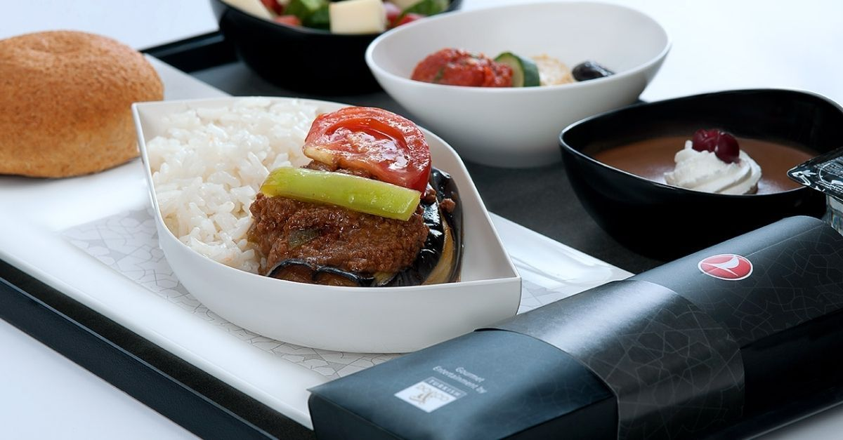 Turkish Airlines menu
