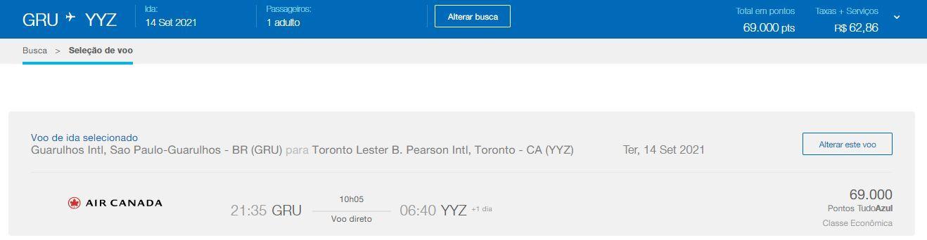 Air Canada voos Brasil